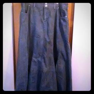 Blue Jean Denim Skirt